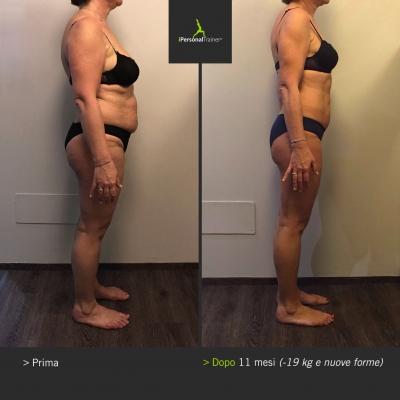 Prima e Dopo iPersonalTrainer Silvana